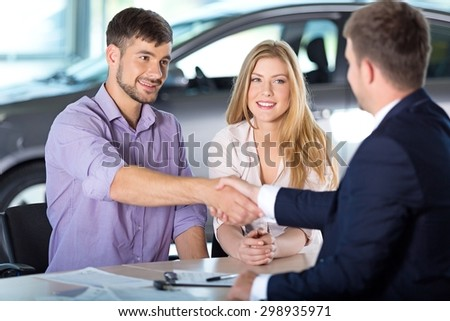 Car, Car Dealership, Sales Occupation. - stock photo