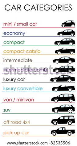 car categories - stock photo