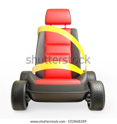 car chair isolated on a white background - stock photo