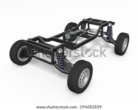 Car chassis - stock photo