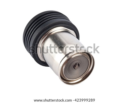 Car cigarette lighter isolated on white background