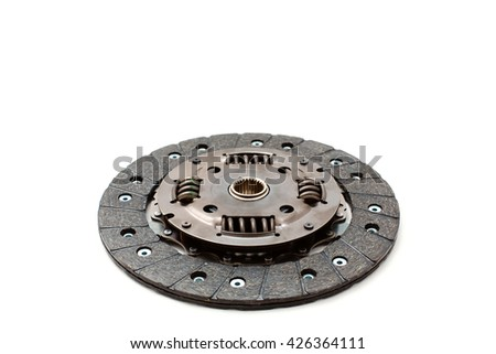 Car clutch on white background