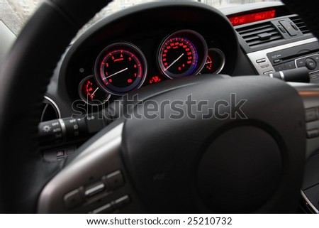 car cockpit - stock photo