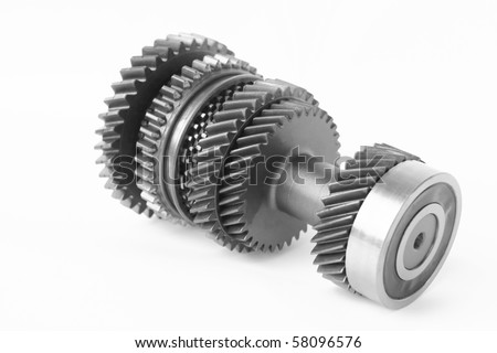car control gear in isolated - stock photo