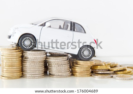Car costs  - stock photo
