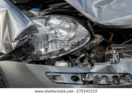 Car crash - stock photo