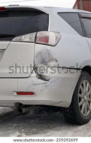 Car crash accident - stock photo