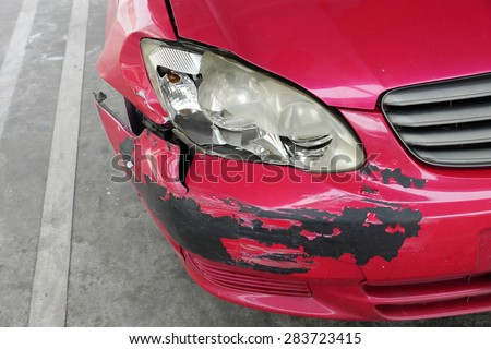 Car crash - accident and insurance - stock photo