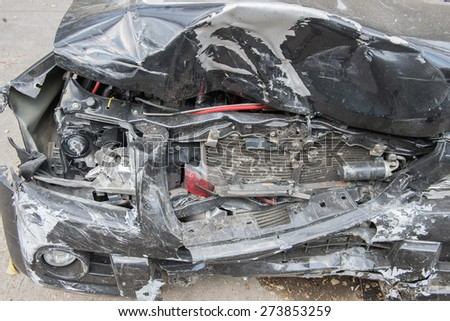 Car crash damage portrayals may be broken - stock photo