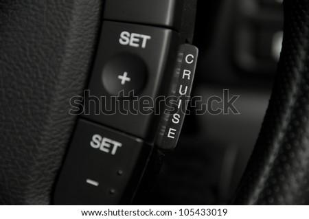 Car cruise control - stock photo