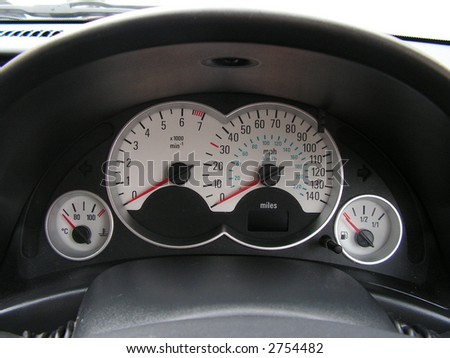 car dashboard - stock photo