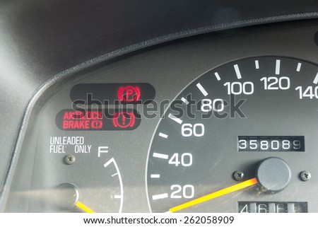 Dashboard Warning Lights Stock Images RoyaltyFree Images - Car signs on dashboardcar dashboard signs speedometer tachometer fuel and temperature