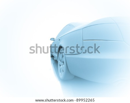 Car design on white - stock photo