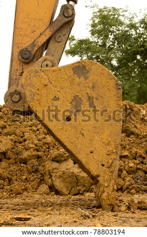 Car digging - stock photo