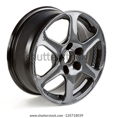 car disks over the white background - stock photo
