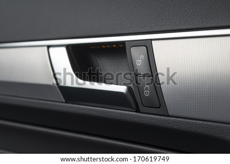 Car door handle - stock photo