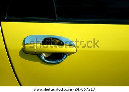 Car door handle - stock photo