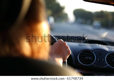 car driver - stock photo