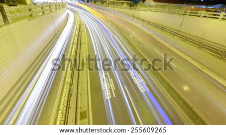 Car driving to underground - stock photo