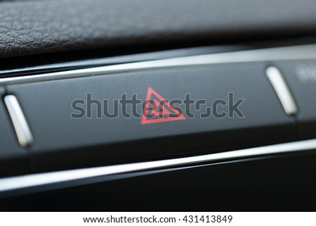 car emergency light botton - stock photo