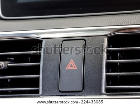 car emergency light button - stock photo