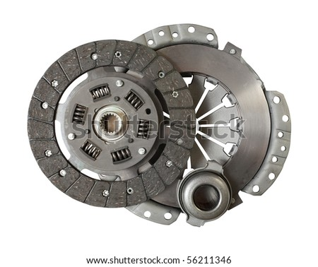 Car engine clutch. Isolated on white with clipping path - stock photo