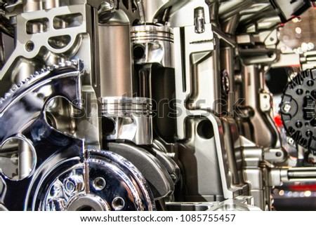 Car Engine Components Stock Photo (Royalty Free) 1085755457 ...