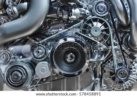 Car Engine Concept Modern Vehicle Motor Stock Photo (Royalty Free ...
