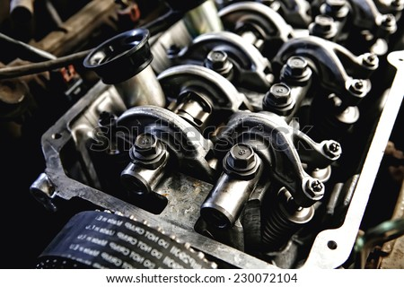 Car Engine Inside View Very Close Stock Photo (100% Legal Protection ...