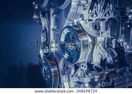 Car engine part - stock photo
