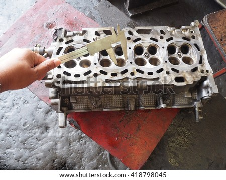 Car engine repair, Car valve.