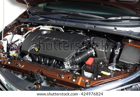 Car Engine Room Show All Parts Stock Photo (Safe to Use) 424976824 ...