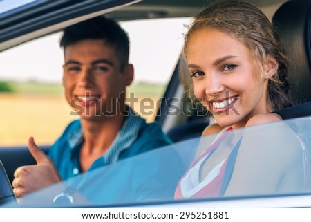 Car, Family, Driving. - stock photo