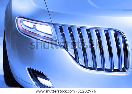 Car front end - stock photo
