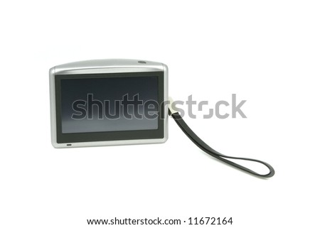 Car gps navigation display - stock photo
