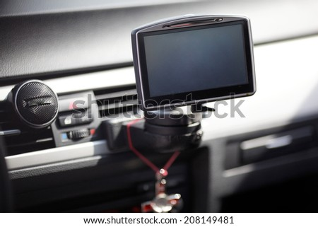 car GPS navigation system - stock photo
