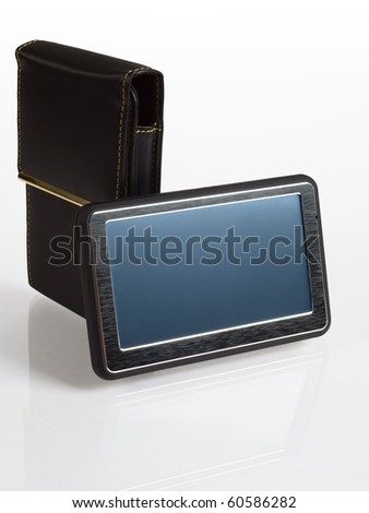 Car GPS navigator with cover - stock photo