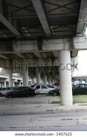 car graveyard - stock photo