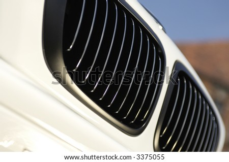 car grill detail - stock photo