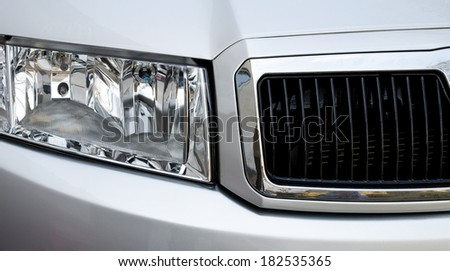 Car head lamp - stock photo