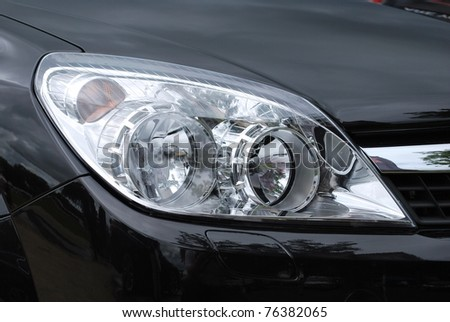 Car Head light - stock photo