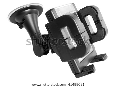 Car holder isolated on the white background