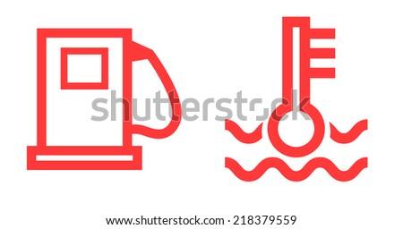car icons - stock photo