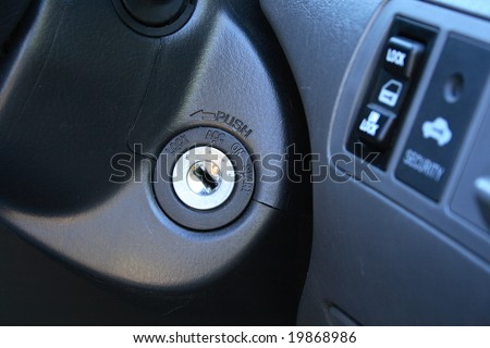 Car ignition - stock photo