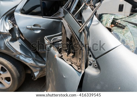 car in an accident