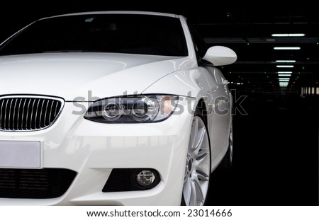 Car in Parking Garage at the Airport - stock photo