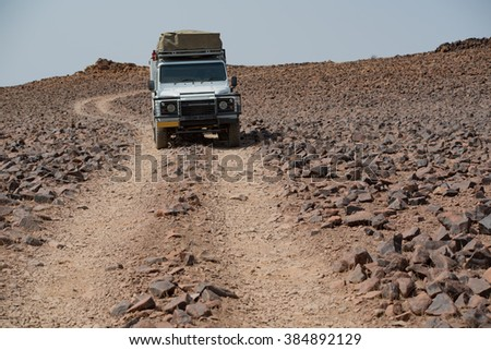 car in the Mountains in Namibia Africa