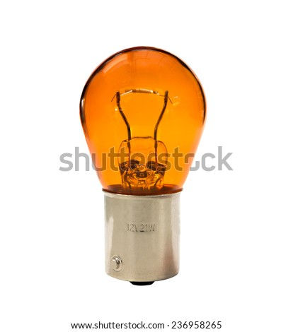 car indicator bulb isolated - stock photo