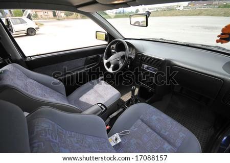 car indoor - stock photo