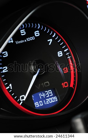 Car Instrument Detail - stock photo